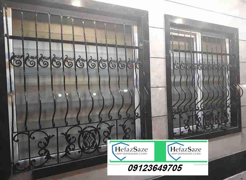 حفاظ نرده فرفورژه پنجره