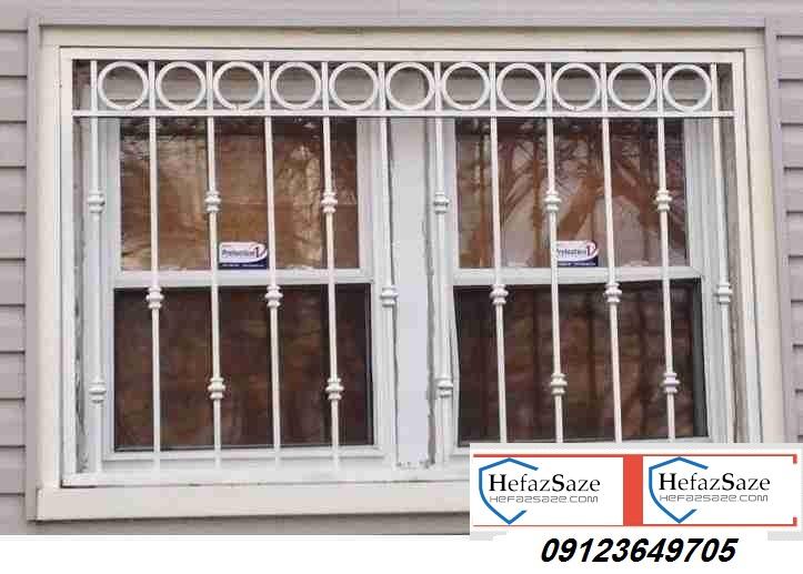 نرده پنجره همراه با قوطی ساده